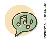 musical note speech bubble...