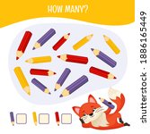 counting educational children... | Shutterstock .eps vector #1886165449