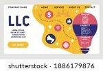 vector website design template .... | Shutterstock .eps vector #1886179876