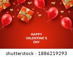 top view valentine's day... | Shutterstock .eps vector #1886219293