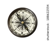 vintage compass  isolated on... | Shutterstock . vector #188622554
