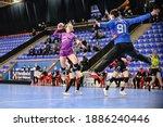 Small photo of Buzau, Romania - November 22,2020, Handball player MAUBON Marion during the game between SCM Gloria Buzau vs Nantes Atlantique Handball ( 27 - 21 ) - 2020-2021 Women's EHF European Cup - Qualificatio