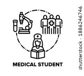 medical student vector icon... | Shutterstock .eps vector #1886246746