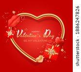 valentine's day background...   Shutterstock .eps vector #1886247826
