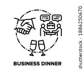 business dinner vector icon...   Shutterstock .eps vector #1886250670