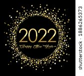 2022 a happy new year symbol... | Shutterstock .eps vector #1886265373