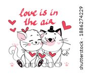 Two Valentine Couple Cats Are...
