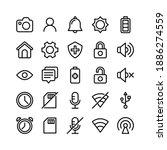 basic ui line icons including... | Shutterstock .eps vector #1886274559