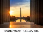 Sunrise From Lincoln Memorial...