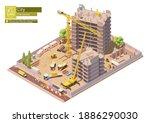 Vector Isometric Building...