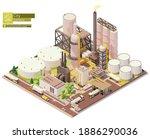 vector isometric oil refinery...   Shutterstock .eps vector #1886290036