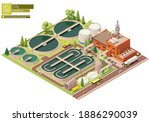 vector low poly water or sewage ... | Shutterstock .eps vector #1886290039