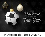 holiday card with ball... | Shutterstock . vector #1886292346