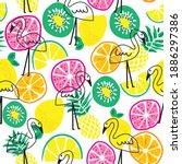 Exotic Fruits With Flamingo...