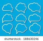 set of cloud shaped speech... | Shutterstock .eps vector #188630246