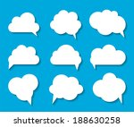 set of cloud shaped speech... | Shutterstock .eps vector #188630258