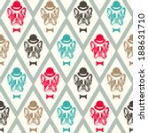 french bulldog seamless pattern | Shutterstock .eps vector #188631710