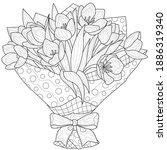 bouquet of tulips. flowers.... | Shutterstock .eps vector #1886319340