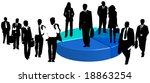 illustration of business people ... | Shutterstock .eps vector #18863254