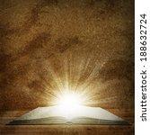 open book lying on the floor.... | Shutterstock . vector #188632724