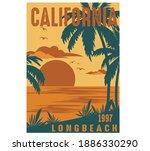 california coast surf vector... | Shutterstock .eps vector #1886330290