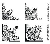 corner vector  black and white  ... | Shutterstock .eps vector #1886331670