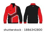 sport jacket red and black...   Shutterstock .eps vector #1886342800