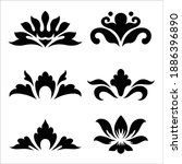 ornamental flowers silhouette....   Shutterstock .eps vector #1886396890