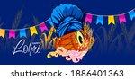 vector illustration of happy... | Shutterstock .eps vector #1886401363