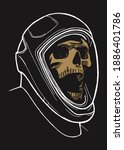 skull in the space suit for...   Shutterstock .eps vector #1886401786
