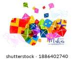 creative happy makar sankranti... | Shutterstock .eps vector #1886402740