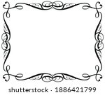 decorative vintage frames on a...   Shutterstock . vector #1886421799