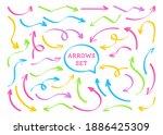 arrows highlighter bright... | Shutterstock .eps vector #1886425309