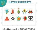 vector robotics for match the... | Shutterstock .eps vector #1886428036