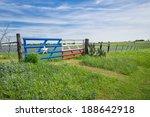 bluebonnet field and a fence... | Shutterstock . vector #188642918