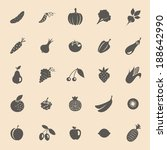 vector collection of fruits and ... | Shutterstock .eps vector #188642990