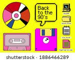 set of clipart elements with... | Shutterstock .eps vector #1886466289