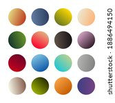 round gradients spheres. set of ...
