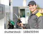gas station attendant at work  | Shutterstock . vector #188650544