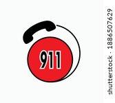 911 emergency call. hotline... | Shutterstock .eps vector #1886507629