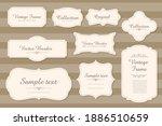 vector set of calligraphic... | Shutterstock .eps vector #1886510659