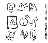 hand drawn simple set of... | Shutterstock .eps vector #1886522290
