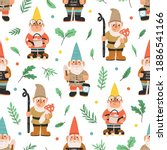 seamless pattern with bearded...   Shutterstock .eps vector #1886541166