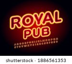 vector trendy flyer royal pub....   Shutterstock .eps vector #1886561353