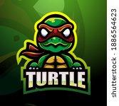 Turtle Mascot Esport Logo Design