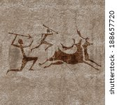 ancient rock paintings show ... | Shutterstock .eps vector #188657720