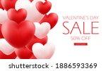 valentine's day sale...   Shutterstock .eps vector #1886593369