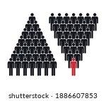 human pyramid teamwork ... | Shutterstock .eps vector #1886607853
