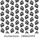 seamless bird pattern  vector  | Shutterstock .eps vector #188662493