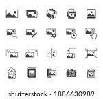 photo flat icon set. image... | Shutterstock .eps vector #1886630989